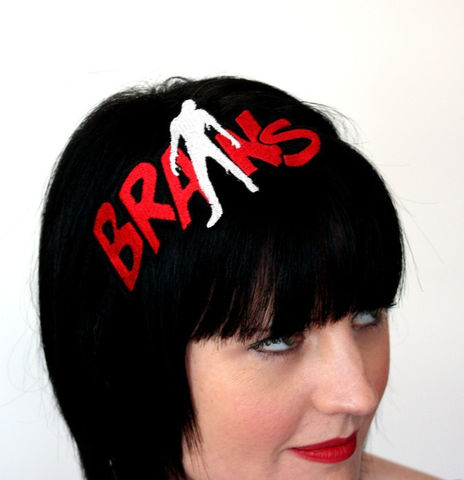 Zombie,Brains,Headband,,Green,or,Red,Holidays,Halloween,Accessories,costume,headband,zombie,brains,blood_red,white,walking_dead,janine_basil,uk,brain,women,teens,flesh_eaters,rayon_thread,felt,elastic