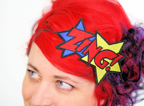 ZING,Comic,Book,Headband,headband, comic accessories, funky headband