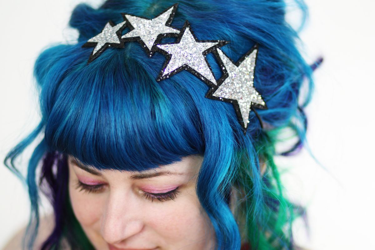 Stars Headband, Glitter, Various Colours - product images  of