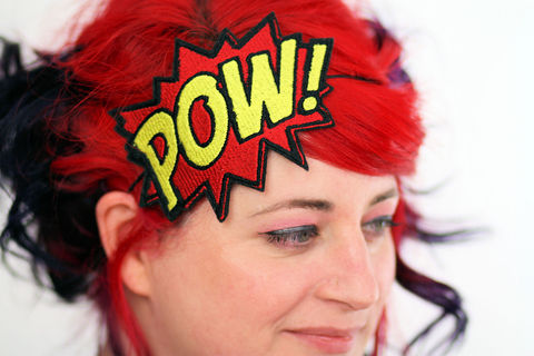 POW,Comic,Book,Headband,headband, comic accessories, funky headband