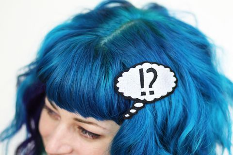 WTF,Hair,Clip,,Say,What,Barrette,,White,and,Black,Accessories,Clip,women,janine_basil,hair_clip,barette,hair_barrette,cute_barrette,white,wtf,what_the_fuck,say_what,wtf_hair_clip,speech_bubble,comic,polyester_felt,rayon_thread,elastic