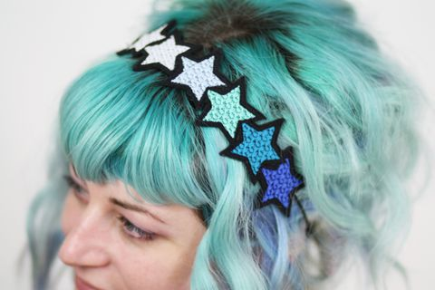 Stars,Headband,,Various,Colours,Headband, stars, blue, purple, gradient, ombre