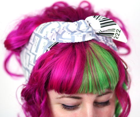 Reversible,Wired,Bow,Headband,,Grey,Keyboard,Print,and,Barcode,dolly bow headband, wired, tie hair band