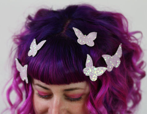 Butterfly,Hair,Adornments,,Accessory,,Glitter,butterfly hair accessories, glitter, halloween, halloween accessories
