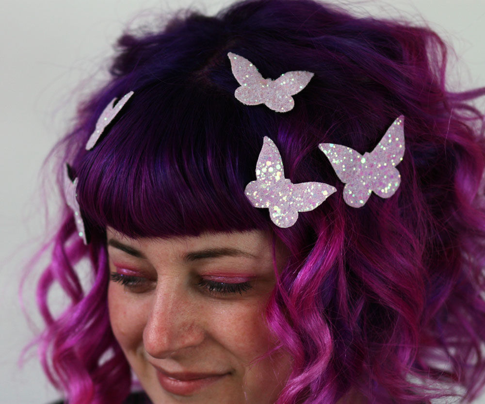 butterfly hair adornments hair accessory glitter