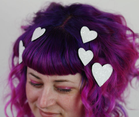 Hearts,Hair,Adornments,,Accessory,,Glitter,heart hair accessories, glitter, halloween, halloween accessories