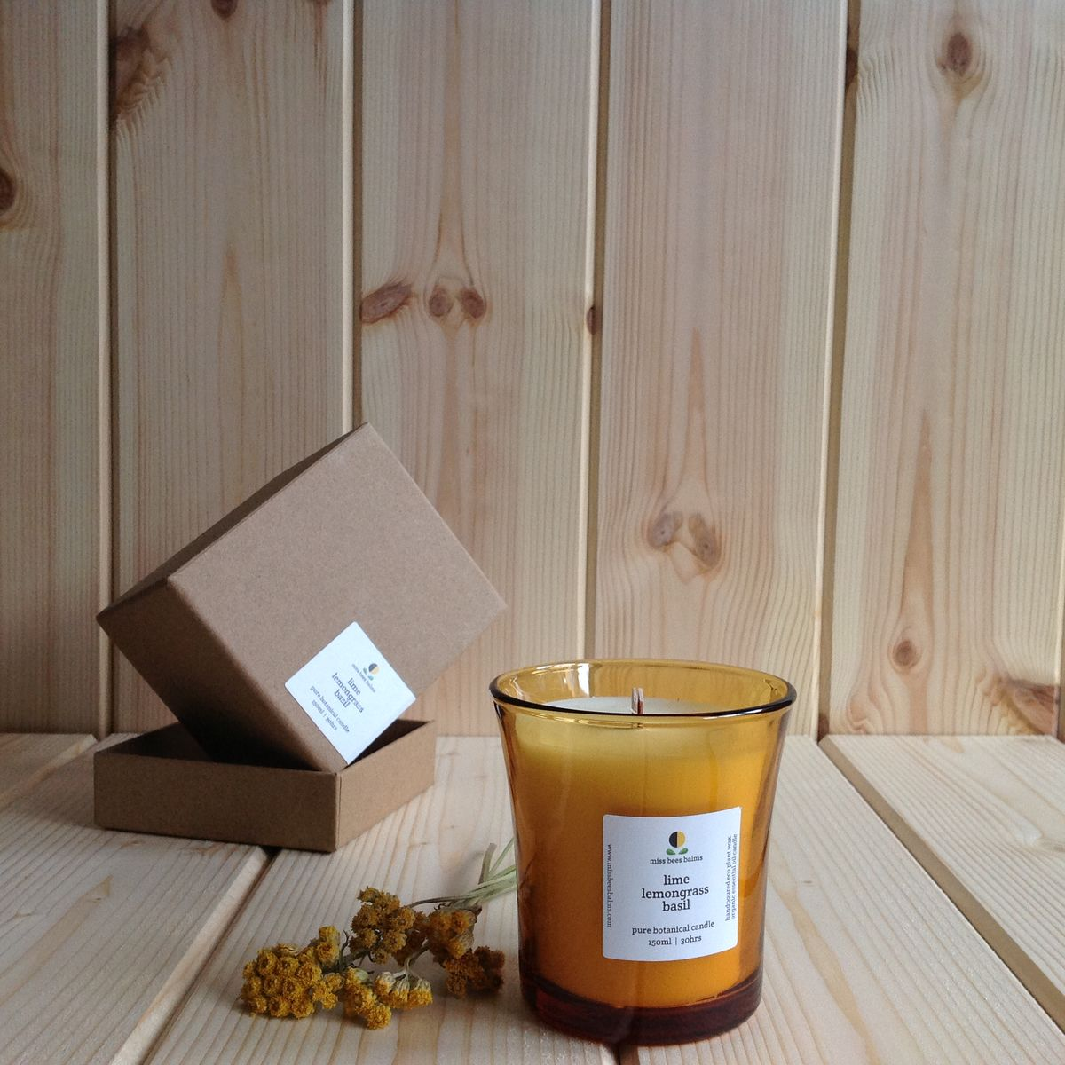 lime lemongrass basil pure botanical candle - product images  of