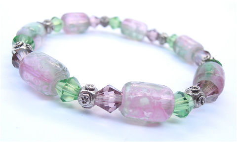 Handmade,Purple,Green,Bead,Bracelet,Transparent,Elastic,Violet,Lilac,Pink,Lavender,Crystal,Jewelry,Costume,Accessory,Decorative,Collezione,handmade purple pink green crystal bead bracelet, green glass glass bead elastic bracelet, purple bracelet, pink bead bracelet, lilac bead bracelet, lavender bracelet, pastel pink bracelet, purple crystal brace, pink green mauve lilac violet bracelet