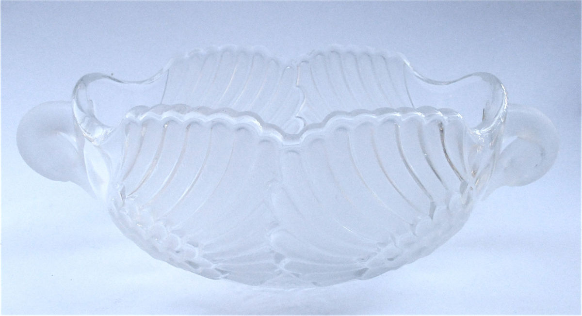 Vintage Art Deco Bowl Art Deco Crystal Swan Crystal Bowl Crystal Serving Bowl Crystal Glass Bowl Walther Glas Crystal Frosted Glass Container Villa Collezione Boutique