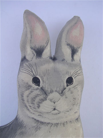 Vintage,Rabbit,Figurine,Bunny,Statue,Stuffed,Pink,Decor,Shabby,Cottage,vintage stuffed rabbit gray pillow, vintage grey stuffed rabbit pillow, vintage gray stuffed bunny figurine, vintage fabric rabbit figurine, bunny room decor, vintage rabbit pink bunny statue, grey rabbit statue, gray bunny figurine, stuffed rabbit decor