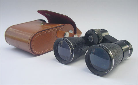 Vintage,Carton,Binoculars,Japan,Optics,4x30,Coat,Miniature,Mini,Sightseeing,Binocular,vintage opera binoculars, vintage carton binoculars, vintage binocular case, tan leather case, opera glasses, field  binoculars, sightseeing optics, bird watching binoculars, vintage carton japan optics, vintage binoculars, carton optics 4x30, miniature b
