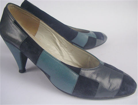 Vintage,Navy,Blue,Shoes,Monaco,Leather,Charles,Jourdan,Suede,Womens,Designer,Ladies,Shoe,Size,7,vintage charles jourdan ladies blue shoes, blue suede leather womens shoes, cj blue leather pumps, patch work blue suede ladies shoes, blue leather shoes, vintage navy blue womens designer shoes, blue ladies shoe size 7, villacollezione, villa collezione