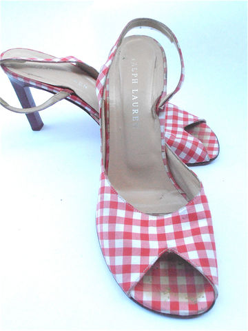 Vintage,Red,High,Heels,Shoes,Stilettos,Ralph,Lauren,White,Designer,Italian,Ladies,Size,8,vintage red white high heels, vintage designer red shoes, red white gingham ladies shoes, vintage red stilettos, vintage red ralph lauren shoes, red white shoes, red italian shoes, ladies shoe size 8, womens shoe size 8, villa collezione, villacollezione