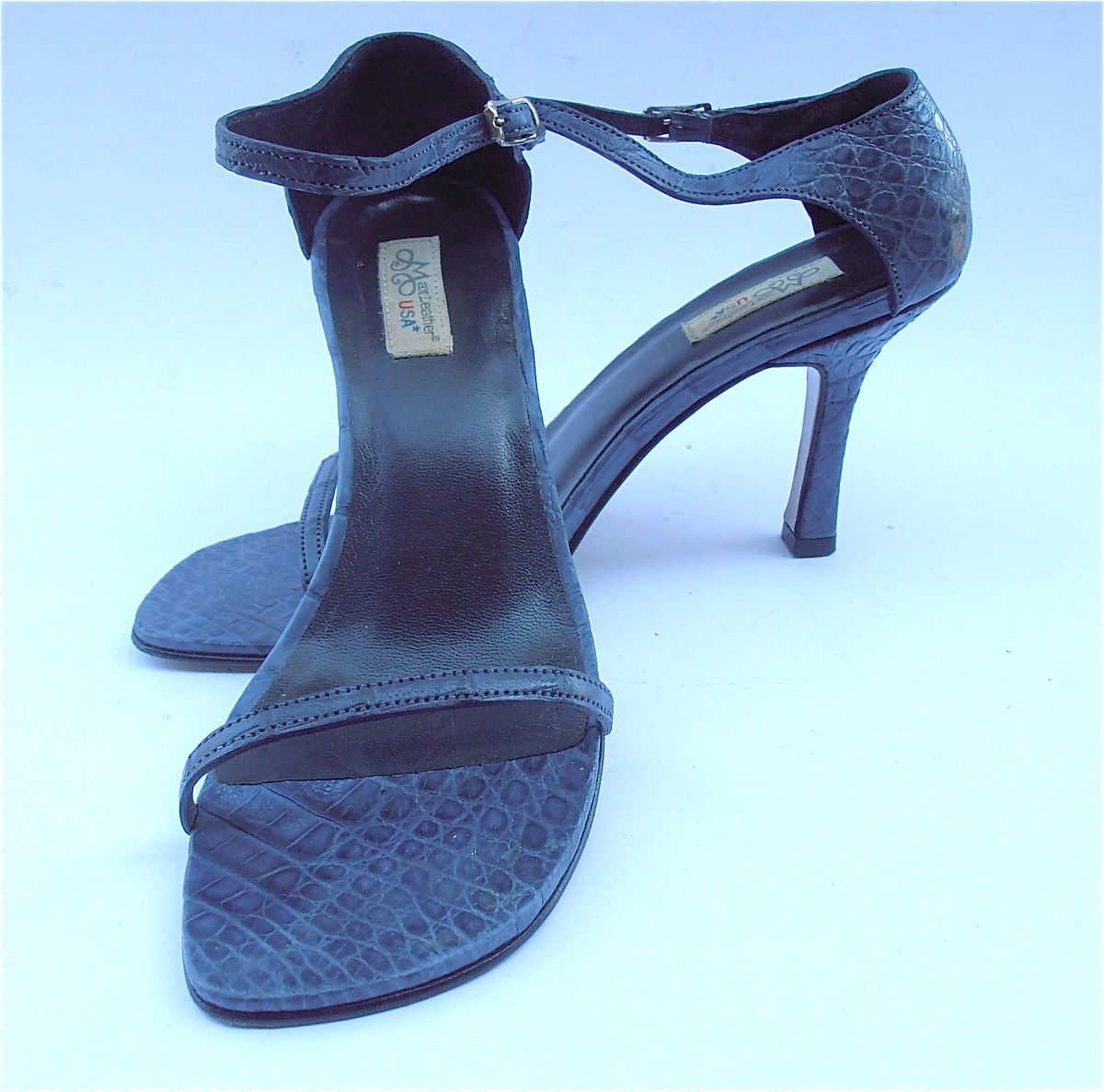 cde048f894a44 ... Vintage Navy Blue Ladies Shoes Blue Womens Shoes Dark Blue High Heels Ladies  Blue Strap Shoes ...