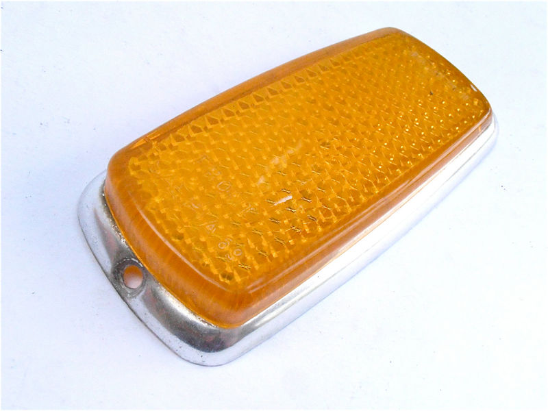 Vintage Amber Front Side Right Left Marker UL0 302 00 30 European Car Marker 60s 70s Light Lens Lamp Mercedes Benz Bmw SAE P1A 69 - product images  of