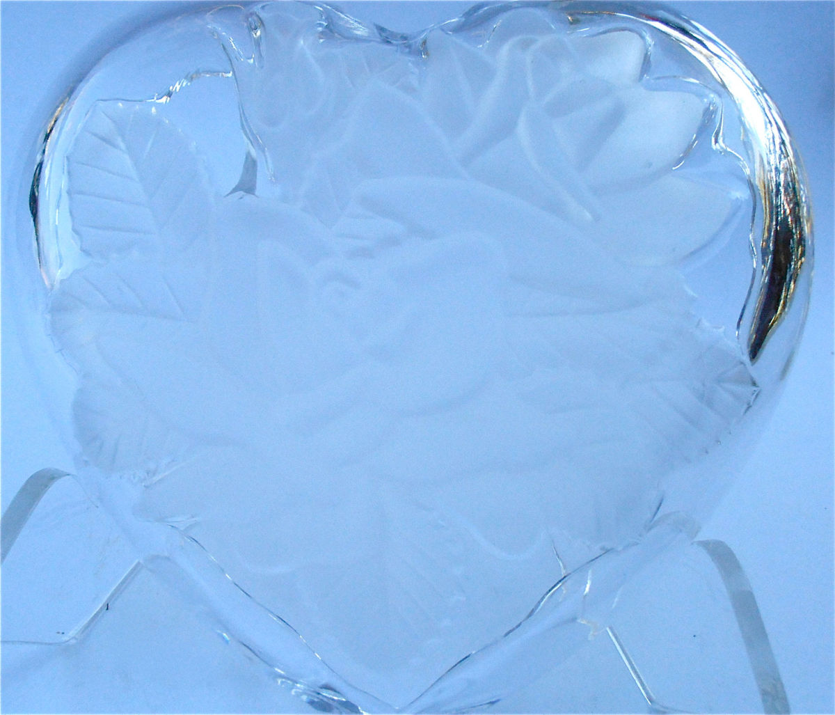 Vintage Heart Bowl Heart Crystal Bowl Vintage Mikasa Crystal Frosted Bowl Frosted Dish Mikasa Dish Crystal Candy Dish Crystal Jewelry Box - product images  of