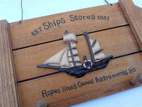 Vintage,Boat,Wood,Key,Holder,Wall,Hang,Nautical,Wooden,Slats,Ship,Décor,Sailboat,Plaque,vintage boat wood wall hang nautical key holder, vintage wooden slats key holder, vintage boat key holder, vintage ship wooden key holder, nautical theme wall hang wood decor, sailboat wall hang decoration, sailboat theme decor, villa collezione