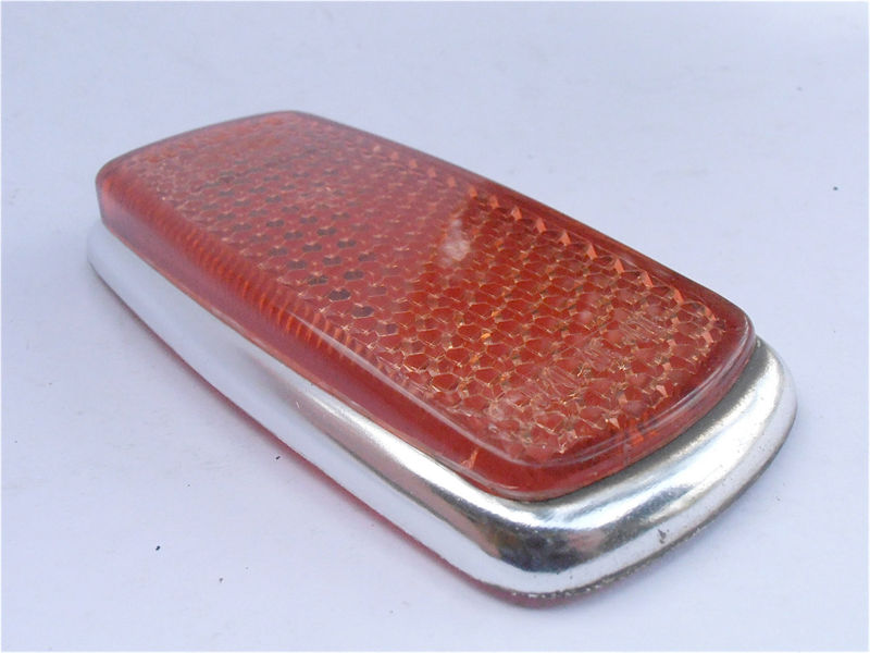 Vintage Red Rear Side Reflector SAE P1A 69 European Car Marker Mercedes Benz Bmw 1960s 1970s Right Left Light Lens Lamp UL0 302 10 20 - product images  of