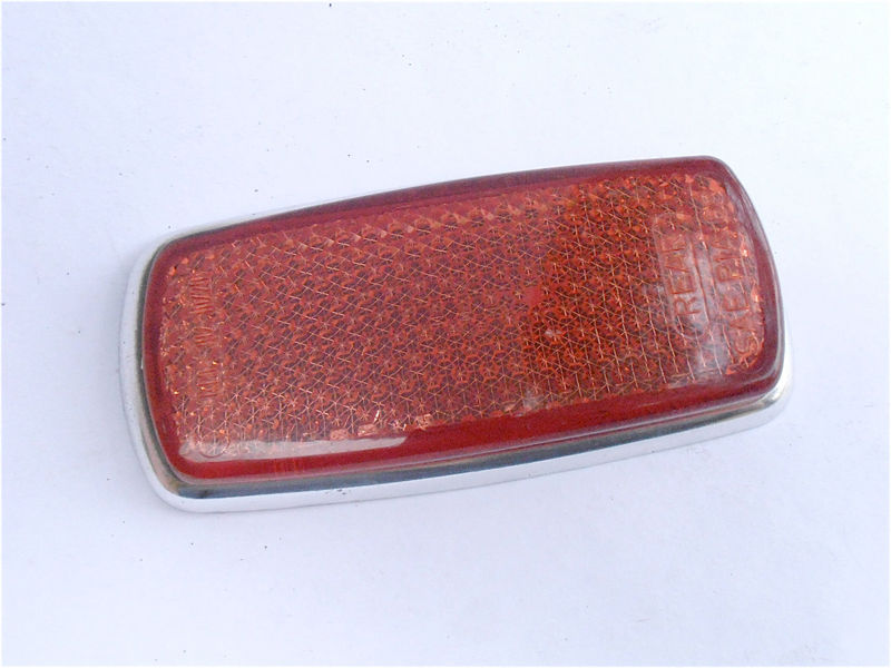 Vintage Red Rear Side Marker UL0 302 10 20 European Car Reflector Mercedes Benz Bmw 1960s 1970s Right Left Light Lens Lamp SAE P1A 69 - product images  of
