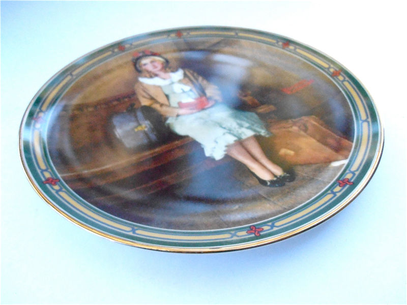 Vintage Norman Rockwell A Young Girls Dream Plate Edwin Knowles 1985 Collector Plate American Dream Series Collectible Fine China 12234G - product images  of