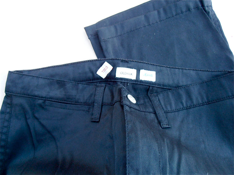 Vintage Black Pants Todd Oldham Designer Womens Slacks Size 30 / Size 31 Mid Rise Straight Leg Ladies Trouser 31 x 30 Waist 31W x 30L Inseam - product images  of