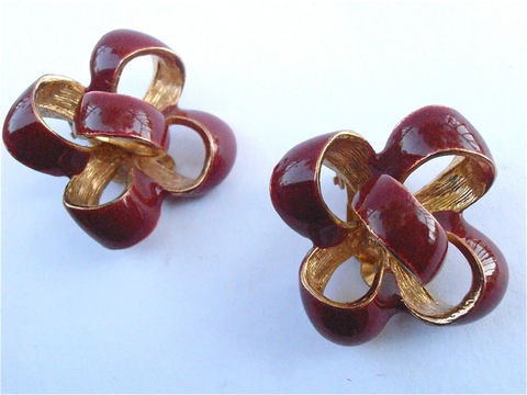 Vintage,Red,Brown,Bow,Earrings,Ribbon,Enamel,Donald,Stannard,Designer,Costume,Jewelry,Reddish,Gold,Tone,Clip,Ons,Jewellery,Jewellry,vintage brown bow earrings, vintage red brown ribbon earrings, vintage donald stannard earrings, vintage reddish brown earrings, vintage brown clip on earrings, vintage red brown designer earrings, brown gold tone earrings, red brown costume jewelry