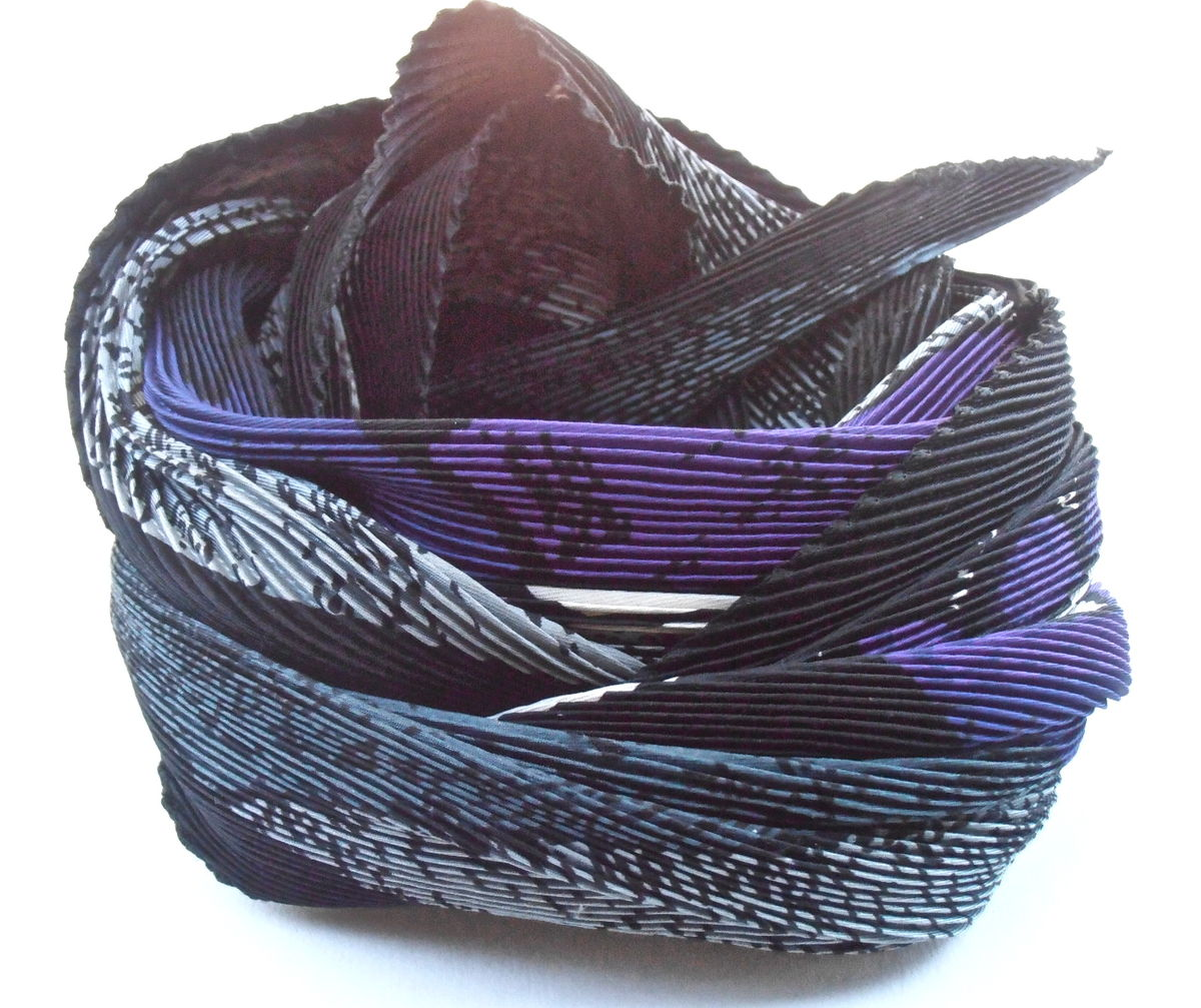 Vintage Purple Picasso Scarf Cubist Abstract Pablo Pleat Plisse Gray Head Wrap Bandanna Female Male Cubism Modern Contemporary Fine Art - product images  of