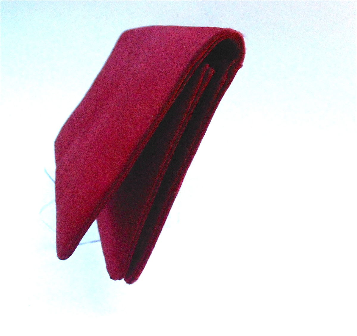 Vintage Dark Ruby Red Satin Clutch Purse Crimson Evening Handbag Formal Rectangular Bag Solid Color Crimson Bloody Cloth Fabric Midcentury  - product images  of