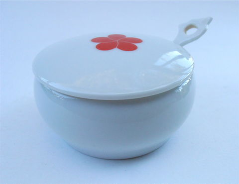 Vintage,Round,White,Ceramic,Relish,Bowl,Red,Camellia,Single,Flower,Covered,Miniature,Mini,Serving,Dish,Sauce,Pottery,Spoon,Villacollezione,vintage round white ceramic relish bowl, red camellia single red flower covered lid, covered miniature mini miniature bowl, white lidded pottery, white relish serving dish vintage white sauce dish, white spoon bowl, white pottery bowl, white pottery spoon