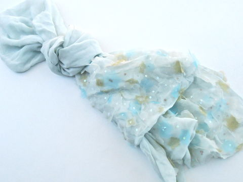 Vintage,Pale,Teal,Silk,Shawl,Light,Wrap,Yellow,Blue,Sheer,Flowers,Petals,Sequins,Long,Oblong,Scarf,Echo,Translucent,Fabric,Villacollezione,vintage pale teal silk scarf, vintage pale teal silk wrap, vintage teal silk shawl, light blue petals, silk petal flowers, vintage pale yellow floral petals, vintage teal sheer fabric, flower petals sequin, oblong teal scarf, vintage echo silk scarf