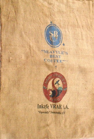 Used,Coffee,Bean,Burlap,Bag,Seattles,Best,Inkafe,Peru,Jute,Natural,Purimac,Valley,Sustainable,Vrae,Hessian,Fabric,Sack,Gunny,Hemp,pre owned seattles best coffee bean burlap bag, used coffee bean jute hemp bag, inkafe peru coffee bag, purimac valley sustainable coffee, seattle best sustainable coffee, hessian coffee fabric bag, gunny sack, hemp coffee bag, jute hemp sack, peru coffee
