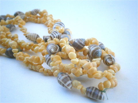 "Vintage,Yellow,Hawaiian,Lei,Necklace,Mongo,Shells,Littorina,Seashells,Brown,Tiny,Spiral,Nassa,50"",Inches,Extra,Long,Single,Strand,Popcorn,vintage yellow littorina seashells, vintage natural yellow mongo hawaiian shell lei, vintage tiny hawaiian mongo seashell necklace, vintage 50 inch single strand extra long hawaiian lei, mongo nassa seashell necklace, yellow popcorn luau lei necklace"