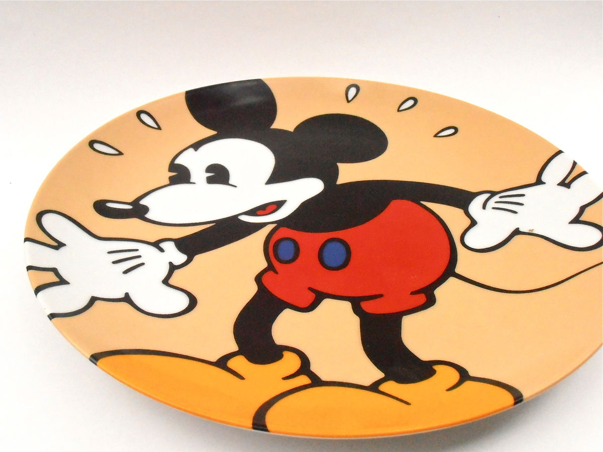 Vintage Mickey Mouse In A Panic Plate Disney Classic Brenda White Clay Artist Collectible Walt Disney Collectable Plaque Charger Ceramic - product images  of