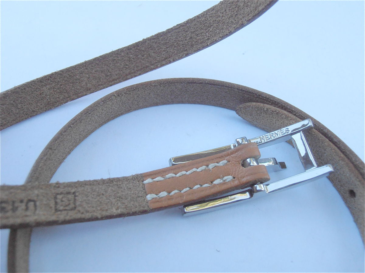 Hermes Hapi Calf Wrap Leather Tan Bracelet Pre Owned - product images  of