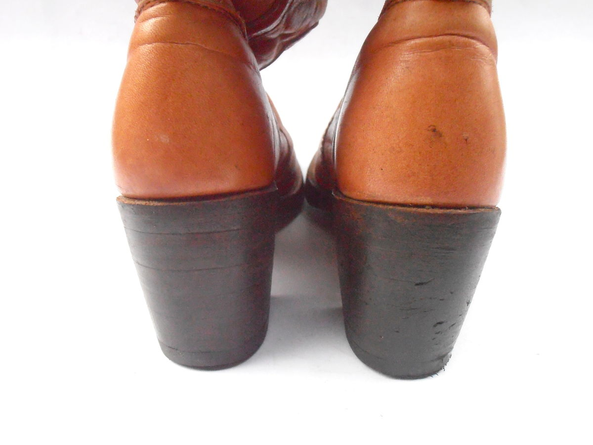 0cd5d55f8d5c2 Vintage Butterscotch Ladies Boots FRYE Brown Cuff Women Distress ...