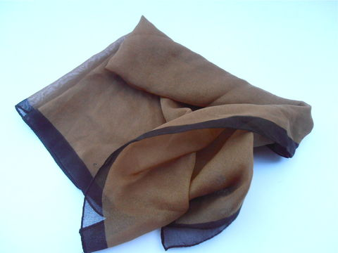 Vintage,Brown,Sheen,Scarf,Neckerchief,Chiffon,Soft,Fabric,Solid,Color,Light,Dark,Border,Chic,Material,Two,Tone,vintage brown sheen neckerchief, vintage brown sheen scarf, vintage light solid brown scarf, vintage dark brown border scarf, vintage brown chiffon scarf, brown soft fabric scarf, translucent brown soft scarf, two tone brown scarf, brown light fabric