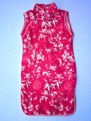 Vintage,Little,Girls,Red,Satin,Cheongsam,Dress,Sleeveless,Gold,Leaves,Chinese,Young,Shiny,Golden,Flowers,Medallion,Floral,Jacquard,Size,5,vintage red chinese cheongsam girls dress, red satin girls dress, vintage asian red sleeveless dress, red satin cheongsam, girl red satin dress size 5, red chinese dress, red jacquard dress, gold floral jacquard, girl chinese costume, red halloween dress
