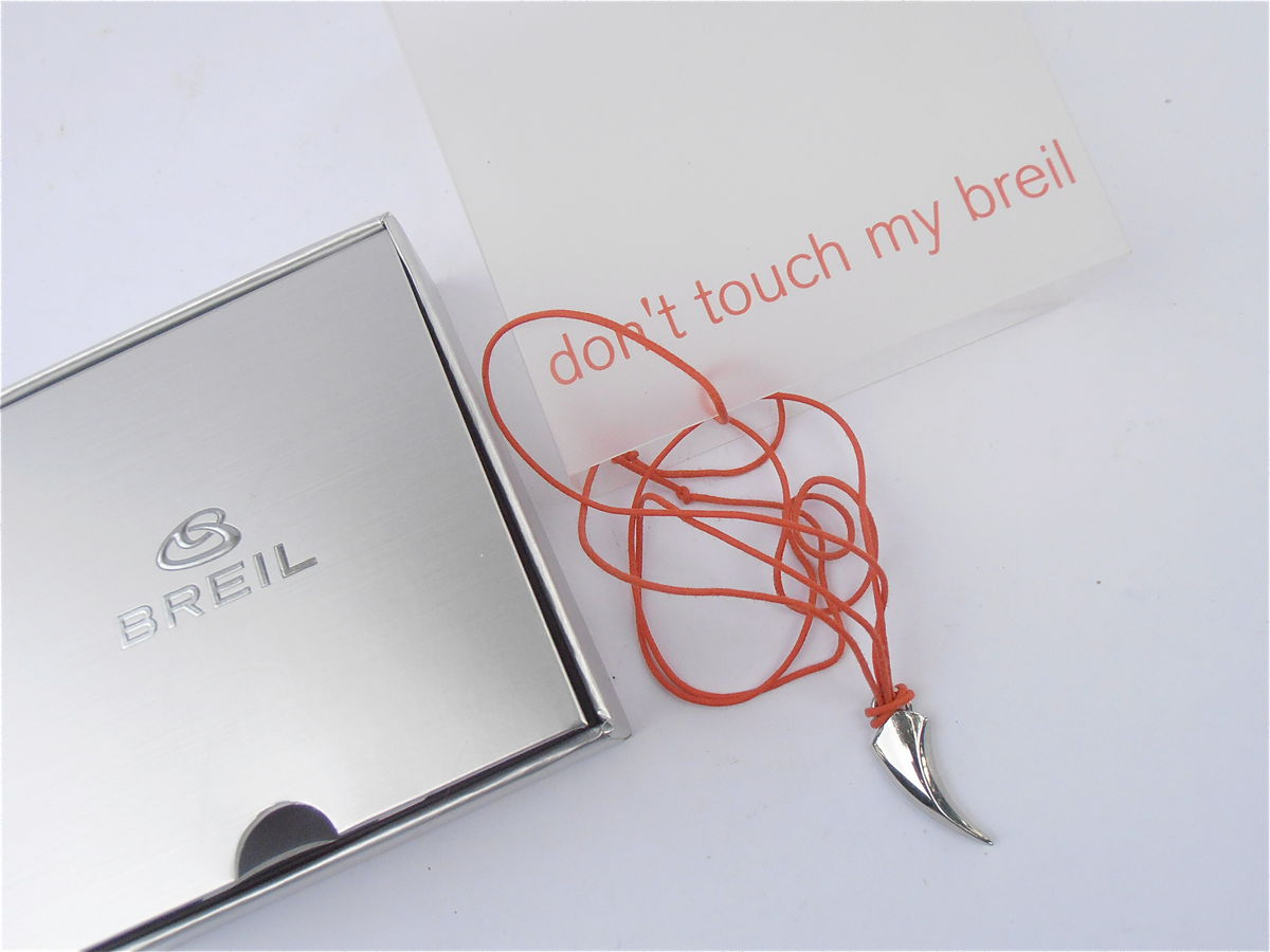 Breil Pendant Necklace Faux Shark's Tooth Stainless Steel Pre Owned - product images  of