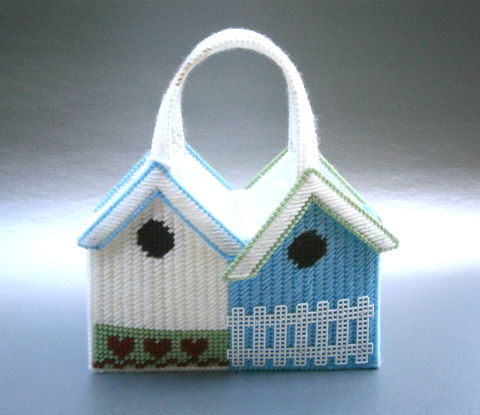 Vintage,Baby,Blue,Handbag,House,Top,Handle,Bag,White,Cross,Stitch,Yarn,Cosplay,Costume,Cute,Kawaii,Lolita,Home,Garden,Picket,Fence,Hearts,vintage baby blue half cross stitch house plastic handbag, blue cross stitch top handle plastic bag, blue white cross stitch bag, lolita cosplay blue yarn home handbag, kawaii lolita blue bag, costume handbag, home garden white picket, heart shape flowers