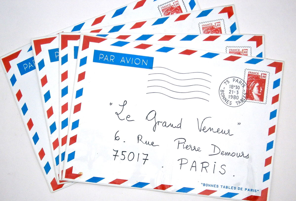 Vintage French Place Mats Airmail Par Avion Paris Fine Dining Restaurants Le Grand Veneur Grande Cascade Bois De Boulogne Prunier Madeleine  - product images  of