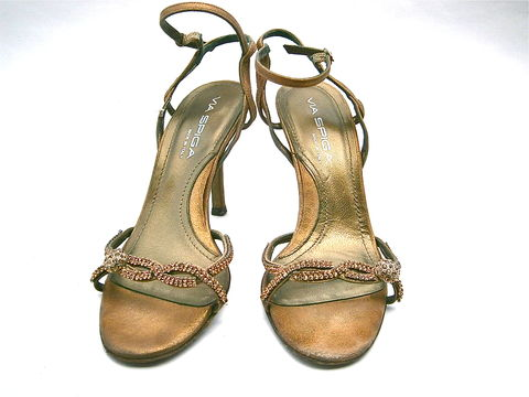 Vintage,Metallic,Bronze,Ladies,Shoes,Stilettos,High,Heels,Rhinestones,Braid,Ankle,Strap,Brown,Evening,Women,7M,Via,Spiga,Italian,Leather,vintage metallic bronze rhinestone ladies shoe, vintage metallic brown braid strappy stilettos shoes, bronze ladies high heels ankle strap shoes size 7, brown rhinestone studded ankle strap shoes, via spiga bronze evening Italian leather shoes size 7m