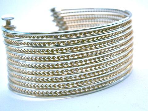 Vintage,Gold,Tone,Cuff,Bangle,Modernist,Multistrand,Twist,Moveable,19,Thin,Strands,Textured,Smooth,Bracelet,OOAK,One,Of,A,Kind,Alternate,vintage gold tone modernist multistrand bangle, vintage gold tone modern design multi strand cuff bracelet, vintage gold modernist cuff bangle, vintage gold modern bracelet, thin twist strand bracelet, thin gold twist strand moveable bangle bracelet