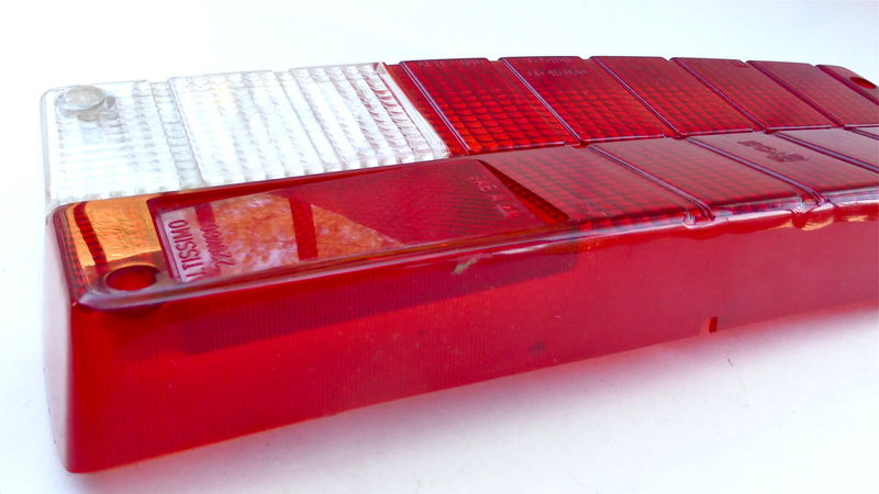 Alfa Romeo Right Side Lens Giulia 105 GTV Series Rear Tailight Red Signal Light European Model Vintage 1971 1974 NOS Lamp 10544.65.012.01/00 - product images  of