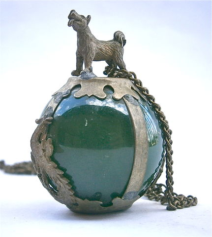 Vintage,Jade,Glass,Stone,Orb,Dragon,Dog,Pendant,Necklace,Encased,Caged,Symbolic,Forest,Green,Ball,Globe,Artsy,Decorative,Jewelry,vintage forest green globe glass pendant, vintage jade glass orb necklace, vintage dragon dog symbols, green glass orb pendantforest green ball, vintage caged jade orb dragon rooster necklace, encased jade ball, silver dog pendant, dragon metal necklace