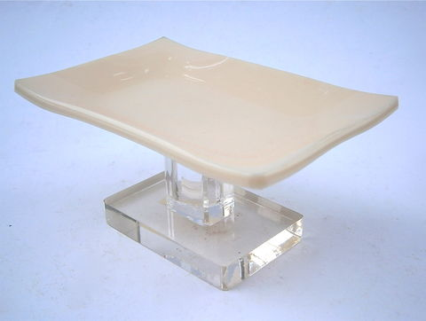 Vintage,Beige,Soap,Dish,Holder,Solid,Color,Clear,Acrylic,Lucite,Stand,Pedestal,Retro,Minimalist,Mod,Bathroom,Vanilla,Modernist,Hard,Plastic,vintage beige acrylic soap dish, vanilla lucite soap dish, transparent lucite retro soap dish, minimalist clear acrylic soap holder, clear lucite dish pedestal, vanilla soap dish, beige soap holder, vanilla opaque dish, modern rectangular beige soap tray