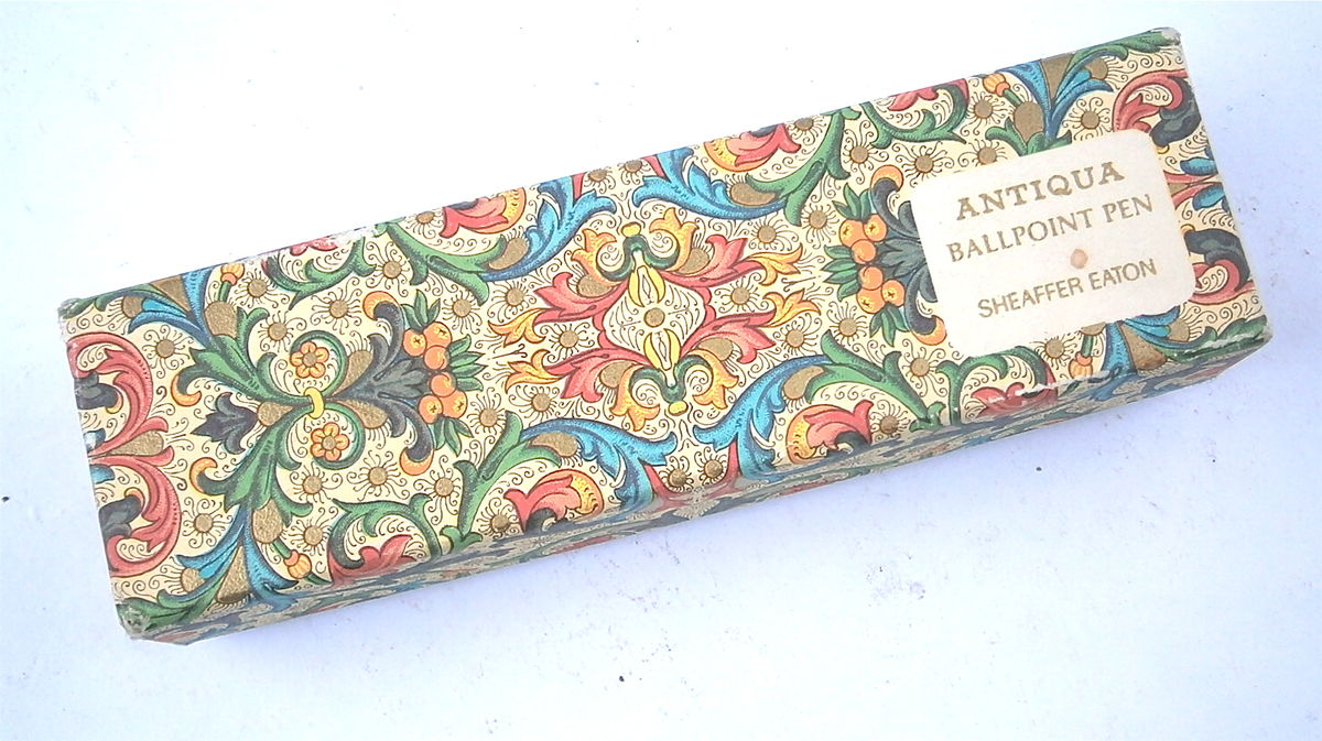 Vintage Sheaffer Ballpoint Pen Antiqua Eaton Tapestry Green Blue Office Supply School Rare Hard Find 6520990500 Kaleidoscope Stylo A Bille  - product images  of