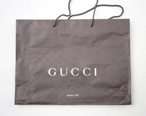 Large,Genuine,Gucci,Shopping,Bag,Paper,Dark,Brown,Designer,Rope,Handles,Signature,Icon,Logo,Embossed,High,End,19,Inches,x,14,Inch,Gift,Wrap,large gucci heavy paper shopping bag, genuine gucci shopping bag, gucci merchandise bag, large 19 inch x 14 inch designer logo bag, iconic gucci tote bag, designer gucci bag, high end gucci signature bag, designer high end brown bag, sturdy paper bag