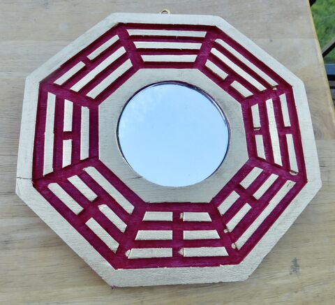 Chinese,Bagua,Feng,Shui,Good,Luck,Mirror,8,Inches,Red,Gold,Fortune,Octagon,Eight,Side,Lucky,Positive,Energy,Decoration,Ba,Gua,chinese good fortune bagua mirror, real mirror feng shui bagua, chinese good luck feng shui ba gua home decor, feng shui bagua octagon mirror, chinese feng shui octagon mirror, feng shui 8 inches mirror, lucky asian chinese oriental feng shui accessories