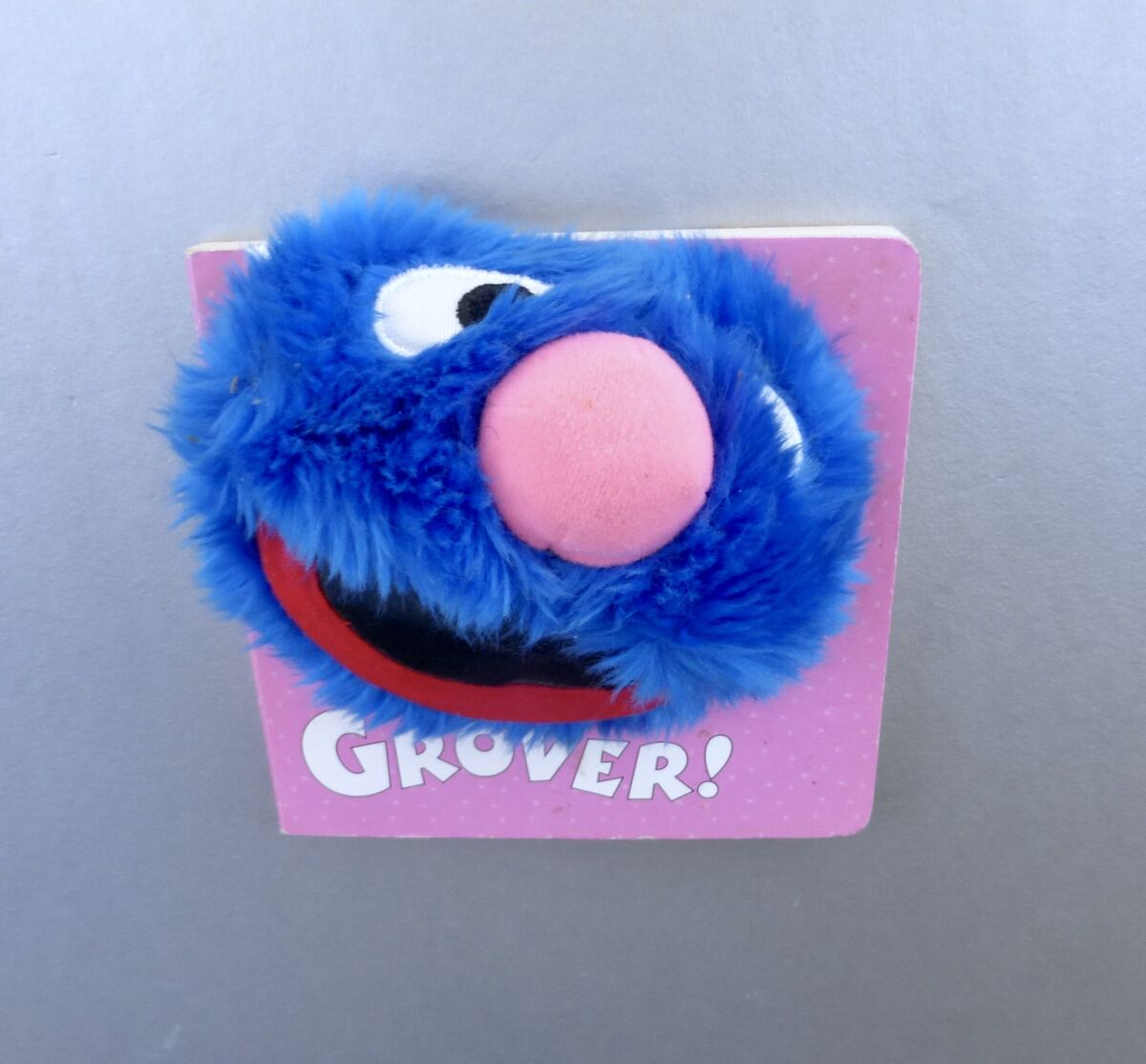 Vintage Grover Sesame Book Furry Face Picture Board Anna Ross Street Children Kid Muppet TV 3D Illustration Graphic Blue Monster First Baby - product images  of