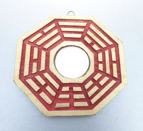 Chinese,Feng,Shui,Good,Luck,Bagua,Mirror,Red,Gold,Octagon,Eight,Sides,Lucky,Positive,Energy,4,inches,Decoration,feng shui bagua octagon mirror, chinese feng shui octagon mirror, feng shui 4 inches mirror, asian chinese oriental feng shui accessories, eight sided gold red mirror feng shui, chinese good luck mirror, small feng shui bagua mirror, medium feng shui bagu